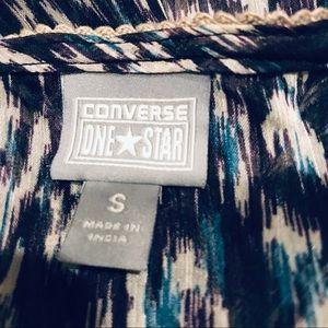 Converse Tops - 🔥SALE Converse one star sheer v neck button S